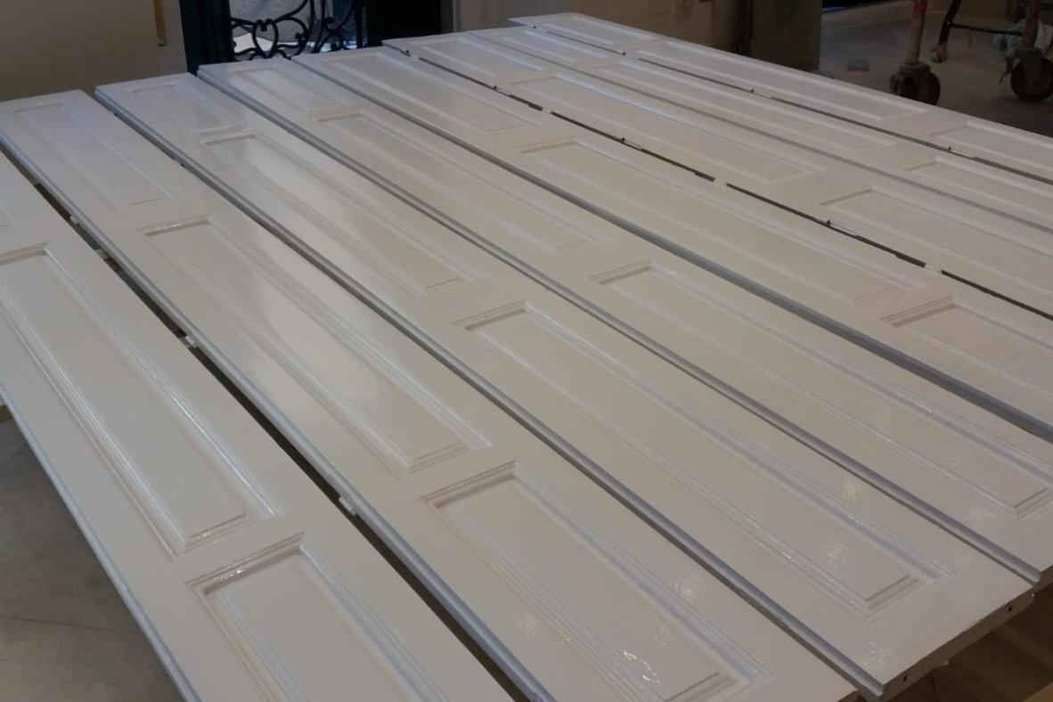 Lacado de puertas en color blanco